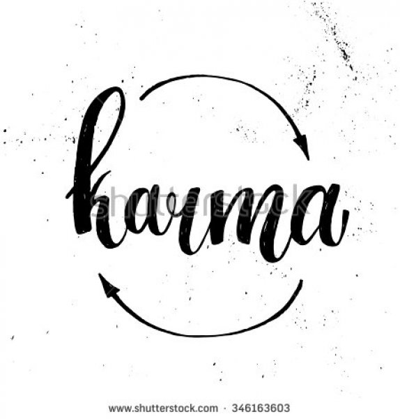 Stock-vector-hand-lettering-illustration-karma-vector-346163603